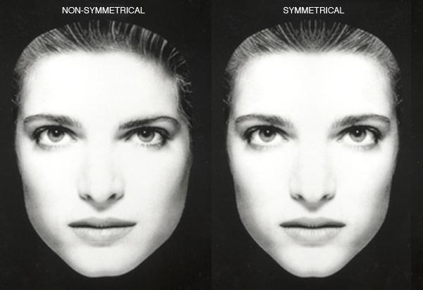 Facial symmetry race